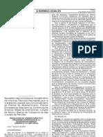 Resolución de Consejo Directivo N 311-2007-OS-CD Requisitos para Emitir Informes Tecnicos Favorab