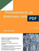 CERAMICA-Procesamiento Materiales Ceramicos