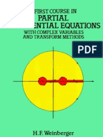 A First Course in Differential Equations. H. F. Weinberger