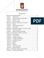 Reglamento Estudiantil 2012 Definitivo