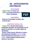 testes - antecedentes históricos