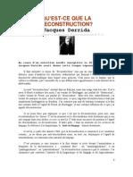 Déconstruction Derrida