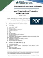 000001- FORMULARIO Proyectos Agroalimentarios