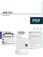AVR1312 Owners Manual Spanish