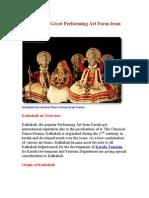 Kathakali-A Great Performing Art Form from Kerala
