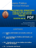 La Funcion Del Minist. Publico en La Lucha Contra Las Drogas - Dr. William Meneses g.