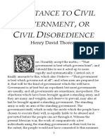 essay rhetorical analysis civil disobedience thoreau  civil disobedience