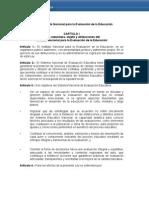 Anteproyecto Ley Del Instituto de Evaluacion