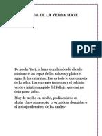 La Leyenda de La Yerba Mate-libro de Grabado