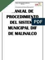 Manual de Procedimientos Del Sistema Municipal DIF