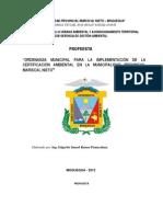 PROPUESTA ORDENANZA CERTIFICACIÒN AMBIENTAL
