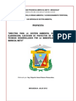 Directiva Monitoreo y Evaluacion Ambiental - Propuesto