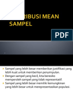 Distribusi Mean Sampel