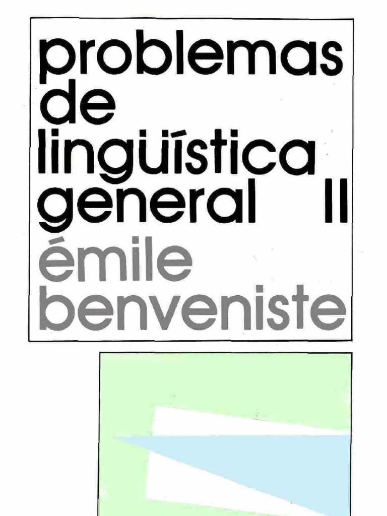 benveniste problemas de linguistica general