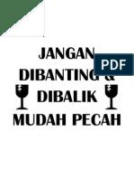 JANGAN DIBANTING