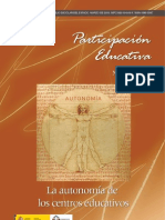 Autonomía de los centros educativos Revista Participación Educativa N° 13