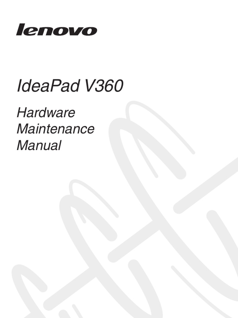 Lenovo IdeaPad V360 Hardware Maintenance Manual V2.0