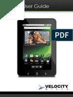 Velocity Micro Cruz T105 Android Tablet Manual