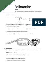 II - 1er. Año - ALG - Guía 1 -  Polinomios I