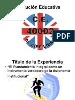 Exposición PROYECTO DE MEJORA DE GESTION  Al Aire Libre 101pw