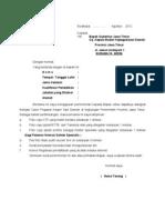 Contoh Surat Lamaran Pendaftaran Cpns 2012