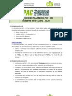 DISPOSICIONES ACADÉMICAS PAC-Abril - 2013-1