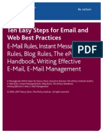 Ten Easy Steps for Email and Web Best Practices