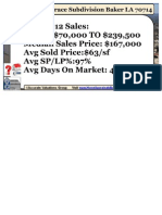 Baker Louisiana Parkwood Terrace Subdivision Home Sales