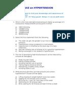 Quiz on Hypertension-22March2013