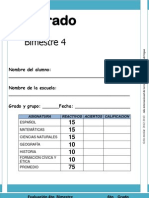 6to Grado - Bimestre 4 (2012-2013)
