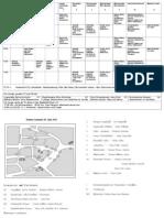 Zeitplan Und Stadtplan