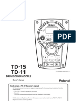 TD-15 Owners Manual