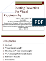 A New Cheating Prevention Scheme For Visual Cryptography.ppt