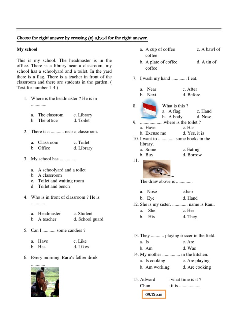 Soal Lomba Calistung Kelas 1 Sd Soal Calistung Sd Kelas 3 Contoh Soal Isian Bahasa Inggris Sd
