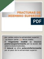 Fracturas de Miembro Superior