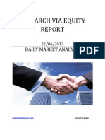Equity Report 22 April 2013