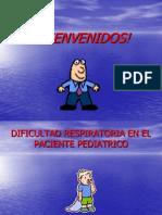 Dificultad Respiratoria en El Paciente Pediatrico