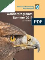 Wanderprogramm 2013 Nationalpark Berchtesgaden
