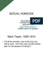 SEXUAL HOMICIDE, Student Handout