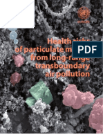 Health risks of particulate matter from long-range transboundary air pollution