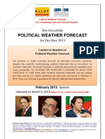 Political Weather Forecast for Election2013