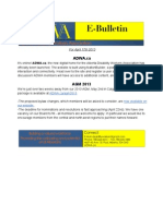 ADWA E-Bulletin for April 17th