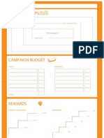 A template for planning crowdfunding campaigns