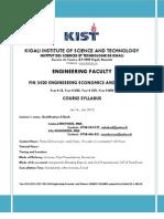 KIST-FIN 3420-Course Syllabus Final April 2013