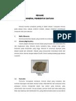 Resume Mineral Pembentuk Batuan