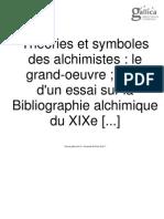 Albert POISSON; Théories et symboles des alchimistes