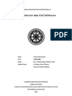 Putu Adi Subtractor Laporan Praktikum Elektronika II