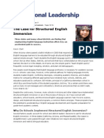 The Case for Structured English Immersion