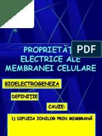 Proprietatile Electrice Ale Membranei Celulare