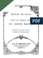 Falla, Manuel de - El Amor Brujo (Partitura Sin Letra)